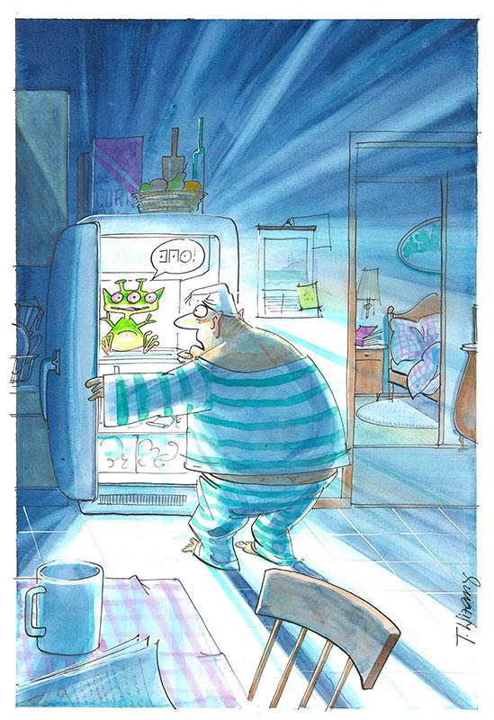 Begegnung der 3. Art (Kühlschrank)